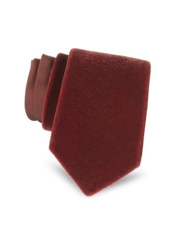 Saint Laurent Silk and Velved Solid Silk Narrow Tie