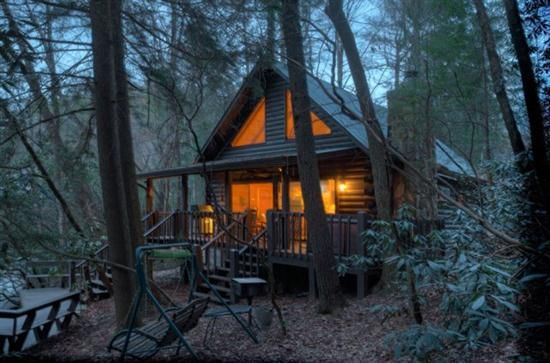 Cabin Rentals Cabin And Blue Skies On Pinterest