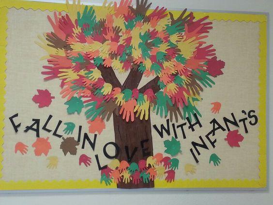 Bulletin Board Ideas Infant Classroom ~ Fall infant board bulliten boards pinterest trees