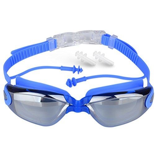 47b62a05351 Swimming Goggles KlearVision Swim Goggles With AntiFog UV Protection Leak  Resistant Streamline Design Comfort Interchangeable Nose Bridge Free …