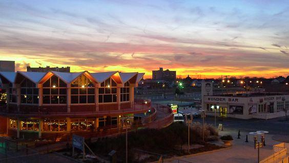Sunset on the Asbury Park Boardwalk