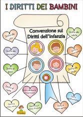 Copertina dei diritti dei bambini colorata irc pinterest for Maestra gemma diritti dei bambini
