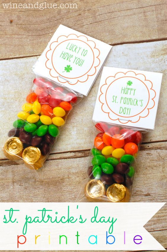 St Patricks Printable {& Baby Shower Ideas | Bags, Rainbow ...