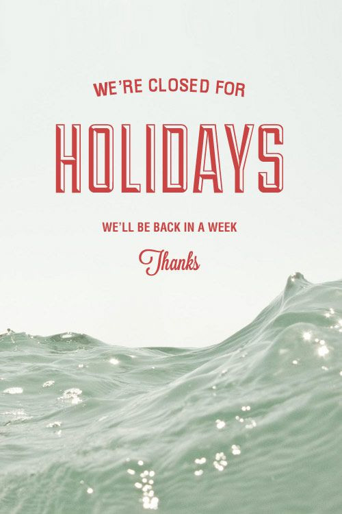 Have a nice Holidays!