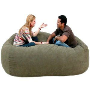 7-feet Xx-large Olive Cozy Sac Foof Bean Bag Chair Love Seat, want this!!!