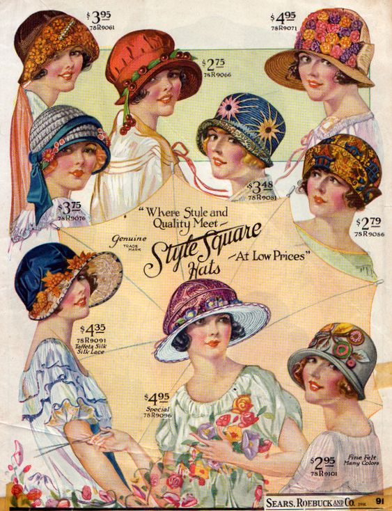 1920s Sears, Roebuck and Company catalog page