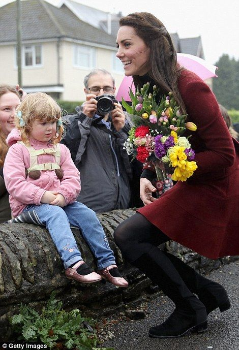 Catherine, Duchess of Cambridge meets members of the public after visiting Caerphilly Family Intervention Team (FIT) to learn about their work with children with emotional and behavioural difficulties, problems with family relationships and those who have or who are likely to self-harm on February 22, 2017 in Caerphilly, United Kingdom.: