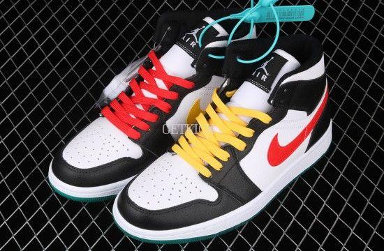 Air Jordan 1 Mid Alternate Swooshes Red