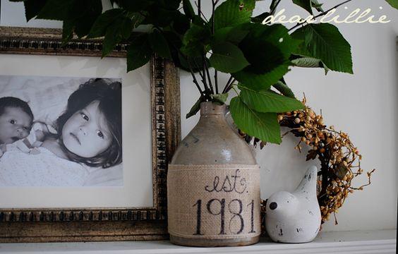 Dear Lillie: #burlap Vase Tutorial
