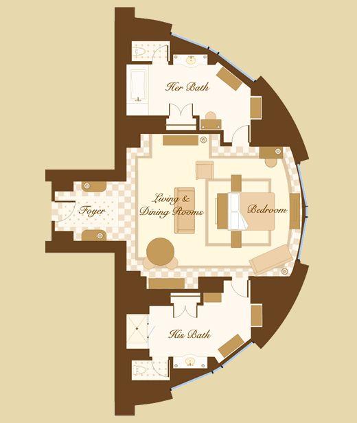Las Vegas Suite Bellagio Cypress Suite Floorplan I Need A Vacation Pinterest Hotels Las
