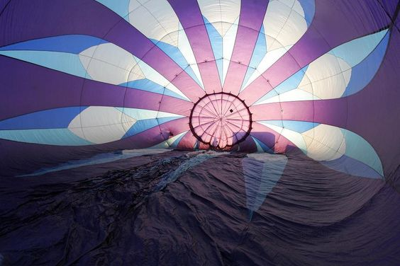 view from the inside. At the Great Reno Balloon Race