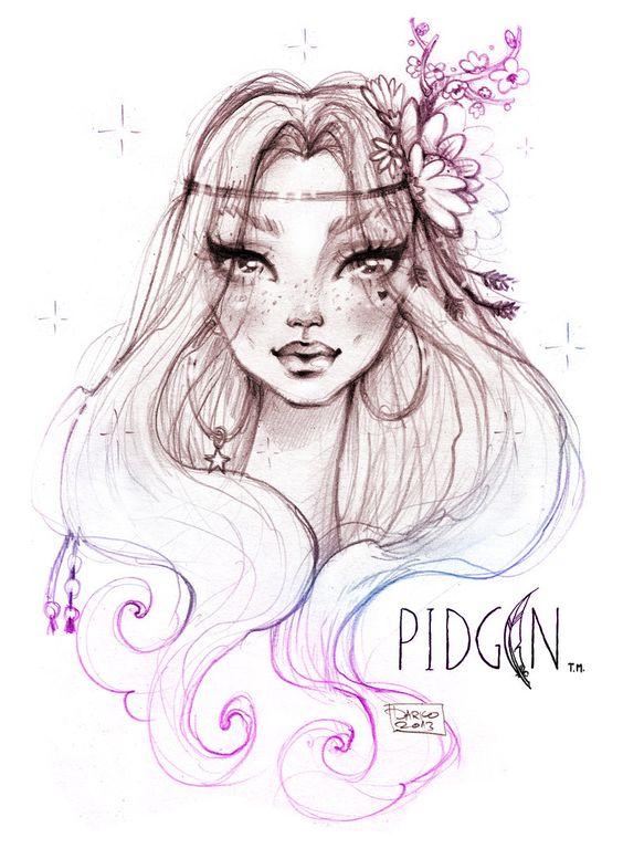 Pidgin Beautiful Doll By J.David McKenny Fan Drawing By Darko Dordevic | My Work | Pinterest ...