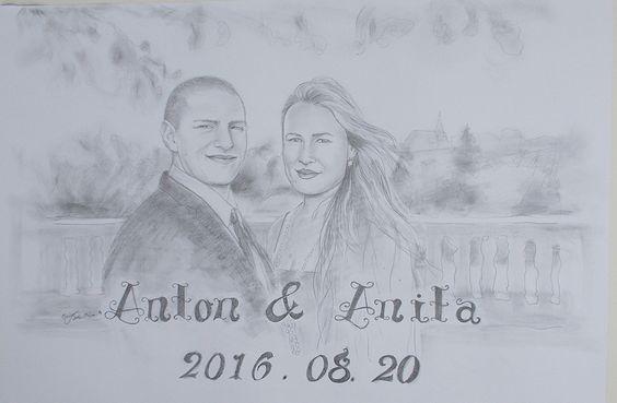 Esküvőre.(magántulajdon) grafit.--45x60 cm-