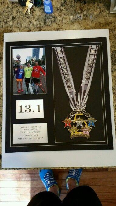 Hollywood Half Marathon finisher medal, 5 year anniversary 2016. #hollywoodhalf #marathons #halfmarathon