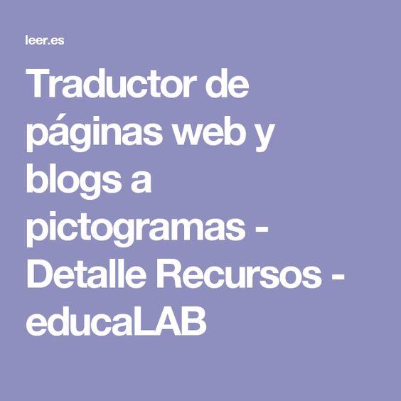Traductor de páginas web y blogs a pictogramas - Detalle Recursos - educaLAB