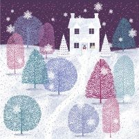 Breast Cancer Care snowy trees charity Christmas card - see our top 40 charity Christmas cards here! http://www.charitychoice.co.uk/blog/the-40-best-charity-christmas-cards/103