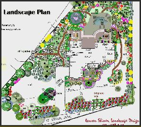 TampaLandscapeDesign.com landscape architecture plan for 3 acres in Valrico, Florida.  Lauren Shiner, Tampa Landscape Design, LLC, tampalandscapedesign.com