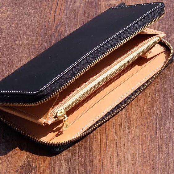 Long leather wallet #vegetabletanned