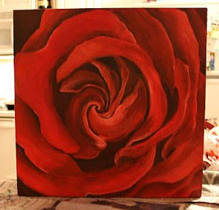 my first rose painting