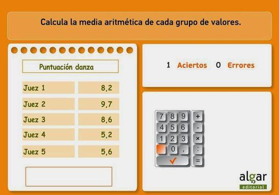 Final de curso es una buena ocasión para practicar el cálculo de la media aritmética
