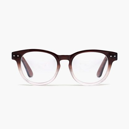 Textbook Eye Glasses. Modern un-color. They're the definition of geek chic.