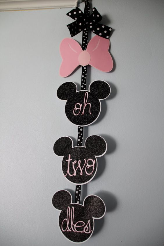 Oh TWO-DLES Minnie Mouse 2nd Birthday Banner on Etsy, $12.00