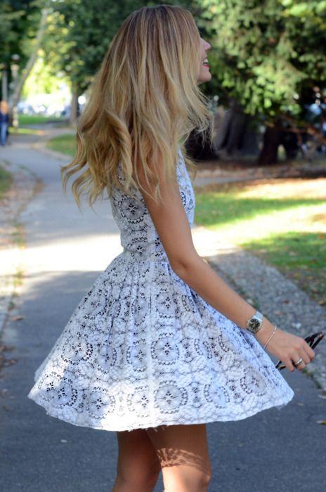 .: Summer Dress, Lace Pattern