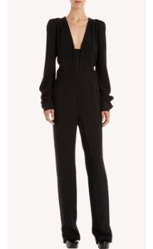 Stella McCartney Puff Shoulder Long Sleeve Jumpsuit