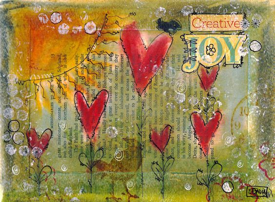 Pan Pastels - altered book page  ************************************************   Creative Joy by Ruth Davis, via Flickr - #altered #art - tå√