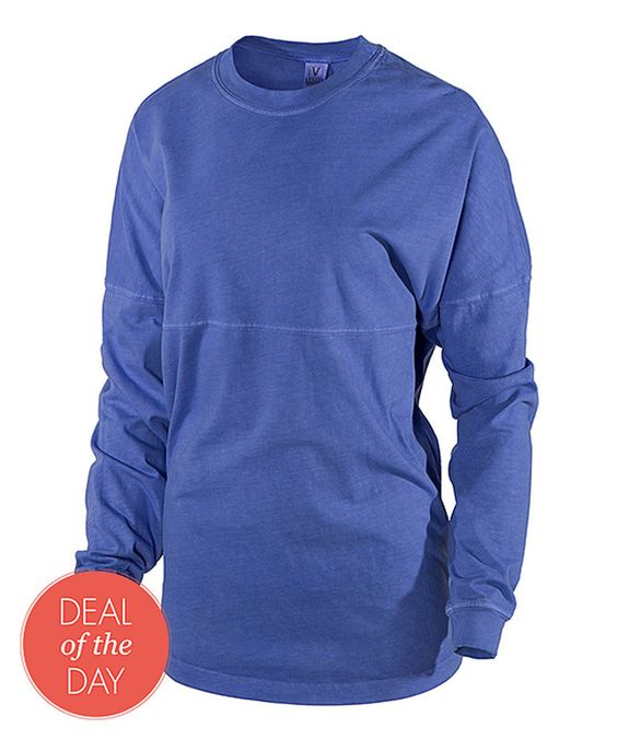 Look what I found on #zulily! Venley Royal Pigment Oversize Long-Sleeve Football Tee by Venley #zulilyfinds