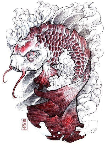 Sick koi fish tattoo design tattoo tattoos ink asian for Sick koi fish