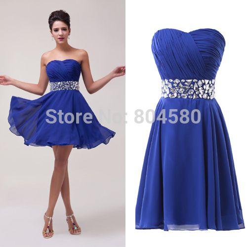 Elegant design!sexy Strapless Women Chiffon Prom Dresses Short ...