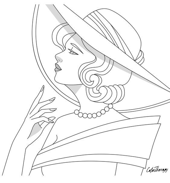 Pin By Messia Jones On Coloring Women 2 Adult Coloring Book Pages Coloring Book Pages People Coloring Pages