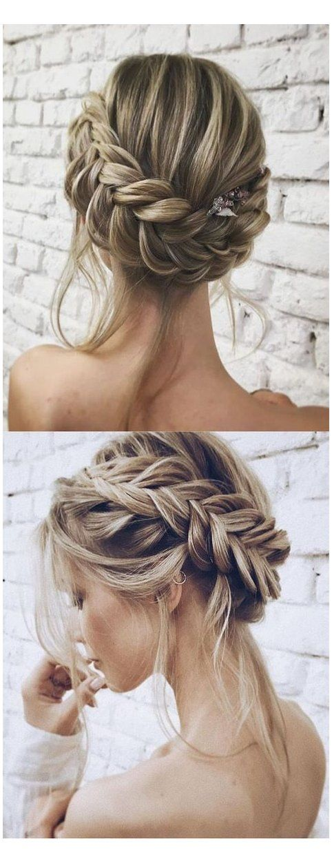 25 Chic Updo Wedding Hairstyles For All Brides Bridesmaid Hairstyles Updo Braid Bridesmaidhairstylesupdobra Medium Hair Styles Easy Hairstyles Hair Styles