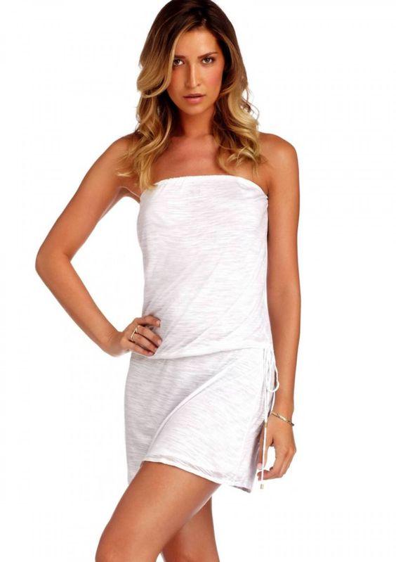2015 Vitamin A Swimwear White Mila Strapless Mini Dress at ...
