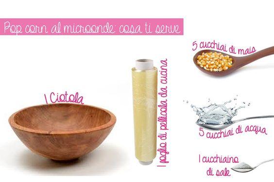 Pop corn light al #microonde: cosa serve