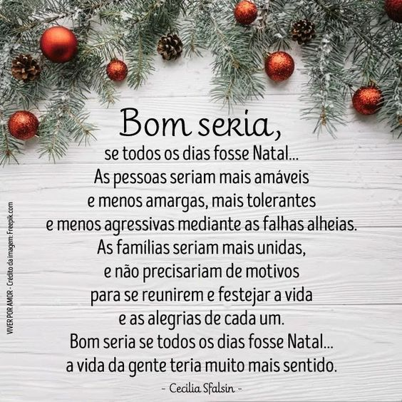 Procure vc mesmo fazer o seu natal diário dentro do seu coração! nunca espere pelos outos! primeiro têm qui ser vc mesmo,pra vc,certo?! bjs