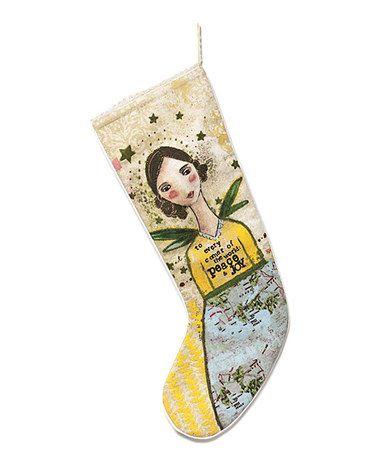 Loving this Peace & Joy Angel Stocking on #zulily! #zulilyfinds