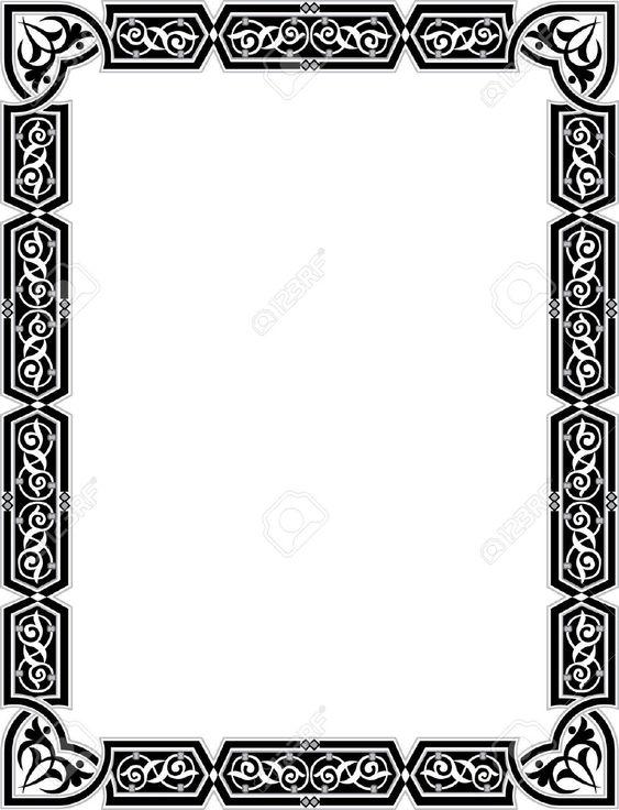 23185792-Islamic-style-border-frame-with-elegant-vector-lines-Stock-Vector.jpg (995×1300)