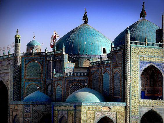 La Mezquita Azul de Mazar-i-Sharif, Afganistan
