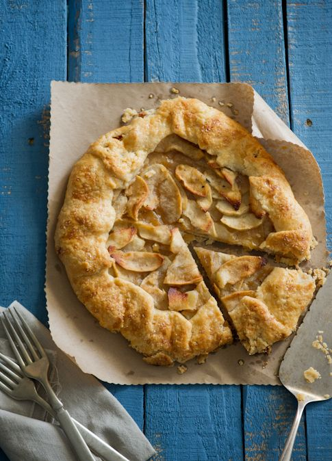 An Apple Galette with Brown Butter