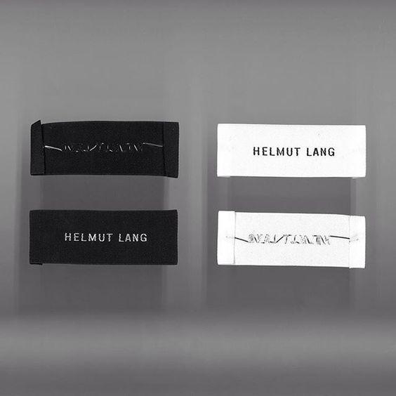 WEBSTA @ helmutlang - Logo, 2015. A reinterpretation of three original logos, newly hand-drawn letterforms offer a pure, contemporary interpretation.