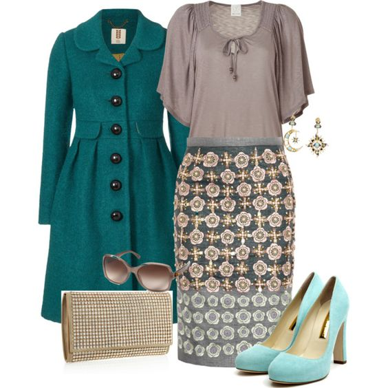 """teal blue grey"" by meneghini on Polyvore"