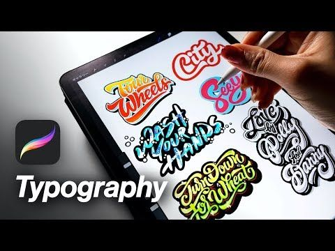 How To Create A Better Typography On Procreate Ipad Pro Youtube Procreate Ipad Pro Procreate Ipad Tutorials Procreate Ipad