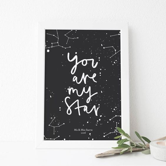You Are My Star Constellation Print