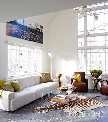 Hang Large Pieces High For Impact   High-Profile Art Collections   House  Home   Photo by Angus Fergusson