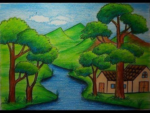 วาดร ปธรรมชาต ร มเเม น ำสวยๆส ไม How To Draw Landscape Scenery Of Beautiful Riverside Youtube การวาดภาพท วท ศน ศ ลปะไทย การถ ายภาพ