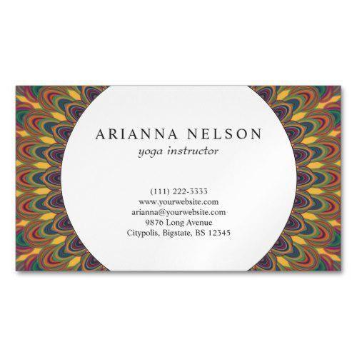 Bohemian Oval Mandala Business Card Zazzle Com In 2021 Business Card Pattern Art Business Cards Business Card Stock