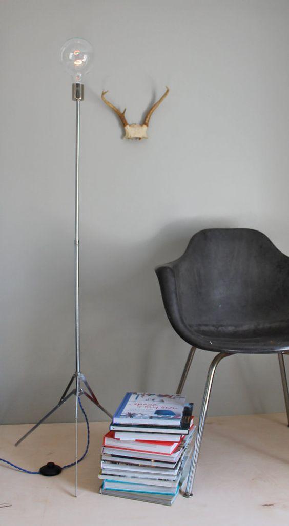 modern minimalist bare bulb floor lamp contemporary simple edison light fixture blue wire light bare bulb lighting