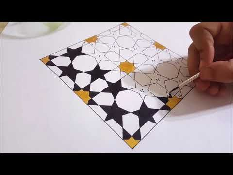 How To Draw An Islamic Geometric Pattern 7 زخارف اسلامية هندسية Youtube Geometric Patterns Drawing Geometric Drawing Islamic Patterns